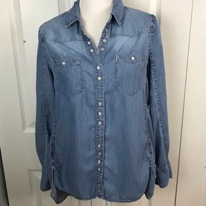 Button Up Jean Blouse